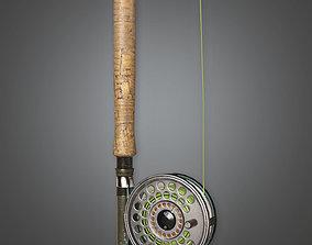 3D model Fishing Pole 02 TLS - PBR Game Ready