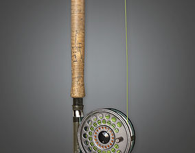 3D asset Fishing Pole 02 TLS - PBR Game Ready