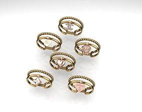 Chanel CC Versace Tiffany Ring 2020 3D printable model
