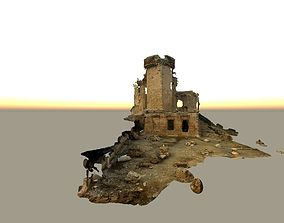 Realistic castle model with texture and material mapped