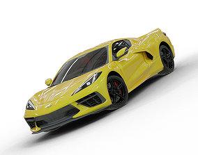 3D model rigged 2020 Chevrolet Corvette C8