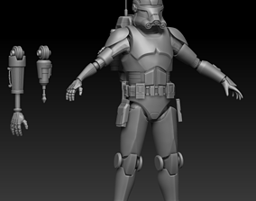 Clone Force 99 Echo Full Armor 3D print ready STL