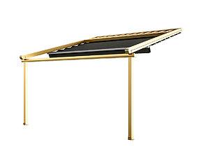 Motorized Pergola 5 brass furniture matte 3D