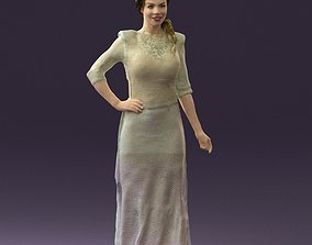 3D printable model Woman in snow white dress 0527