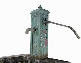 3D black Victorian Hand Water Pump