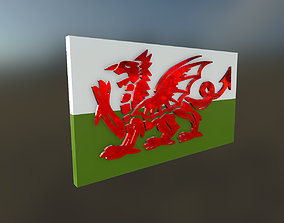 3D asset Welsh Dragon