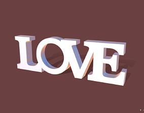 3D printable model Photo frame Love Word