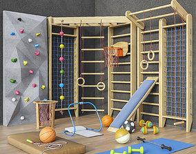 3D model Sports furniture and equipment set 1