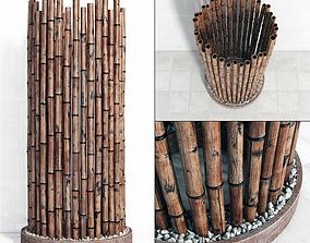 Bamboo decor ring fundament 3D