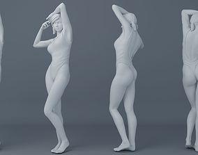 3D print model Pretty girl wearing swimsuit 001