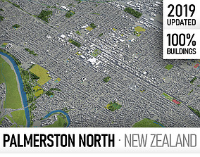 3D model Palmerston North - city and surroundings