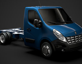 3D Renault Master SingleCab DW E20 Chassis 2010