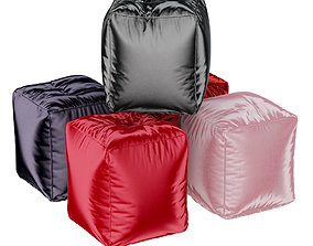 Oxford Colored Poufs Collection 3D