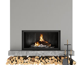 interior Fireplace 3D