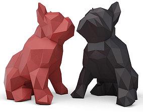 Origami Bulldog Sculpture 3D