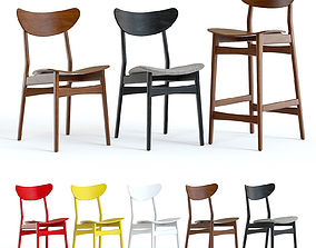 West Elm Classic Cafe Chairs 3D