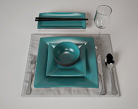 Tableware Set Japan style 3D model