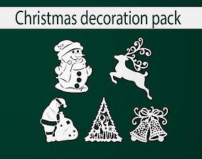 Christmas decoration pack 3D printable model