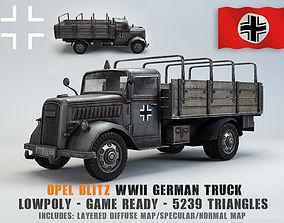 Low Poly Opel Blitz Truck 3D model