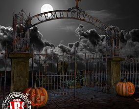 graveyard gate 3D model