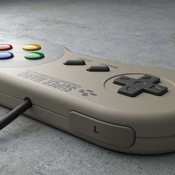 NINTENDO GAMEPAD Low-poly 3D model