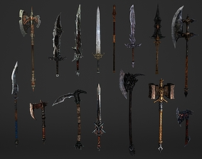 3D Fantasy Magical Weapons