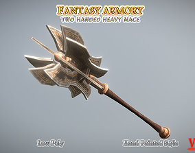 3D asset Medieval Fantasy Two-Handed Heavy Mace