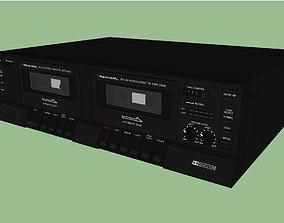 Dual Cassette Player - Recorder Deck 3D model