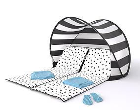 Sea Breeze Beach Lounger and Sun Shade Tent 3D