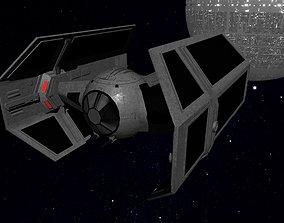 3D asset STAR WARS - TIE ADVANCED