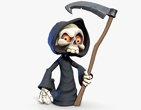 Cute Grim Reaper 3D model
