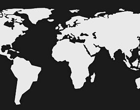 LowPoly World Map 3D asset