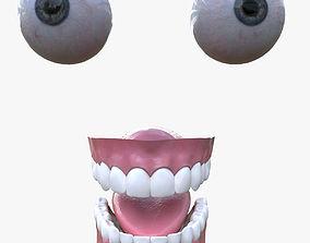 Eyes and teeth 3D asset