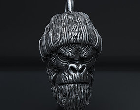 Gangster monkey vol1 Pendant jewelry 3D print model