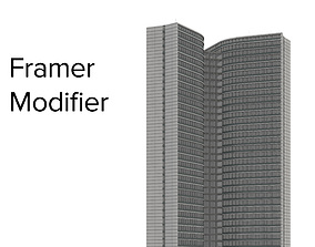 3D model grid Framer Modifier