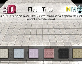 3D Floor Tiles Seamless Textures Set