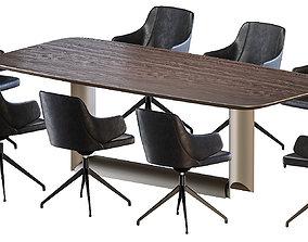3D model Dragon Wood Table Wendy Chair by Cattelan Italia