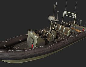 Zodiac patrol boat 3D model