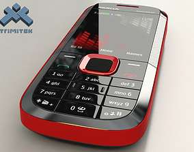 Nokia 5130 XpressMusic - 2009 - red 3D model
