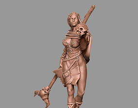 barbarian sorceress - 35mm and 54 mm 3D printable model
