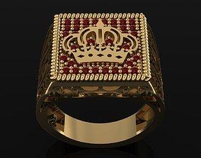men ring royal symbol 3D printable model