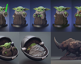 Set B - Baby Yoda - Fan Art 3D