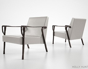 3D Holly Hunt Dublin lounge chair