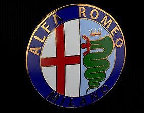 3D Alfa Romeo Badge