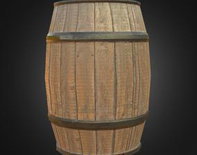 Wooden Barrel wine 3D model