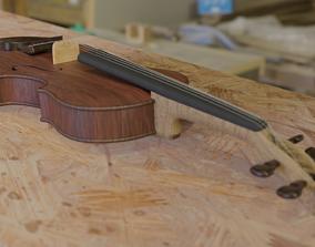 Violin 3D model wood