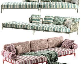 3D Bebitalia Ribes sofa rbr205t 3 rbr141lb 2 rb201t 3
