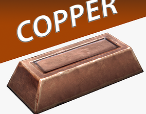 3D model Copper Ingot