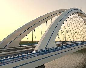 Arched bridge 3D model