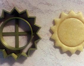 Sun cookie cutter 3D print model
